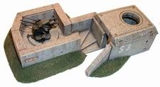 ARTMASTER 80007  Flakstellung mit Schutzbunker  1:87