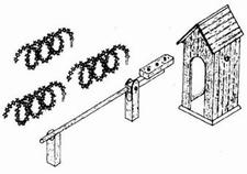 ARTMASTER 80311  Wachthuisje + slagboom  1:87