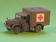 DEN BELS 207  DAF YA-126 GWT Ambulance    1:72