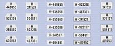 DM DECALS 3024  Duitse nummerborden  1:35