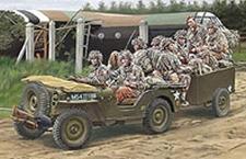 TRIDENT 87229  British Airborne Jeep + aanhanger    1:87