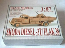 WESPE 870092  Skoda 3t. +   Flak 38  1:87